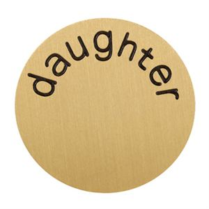 Picture of 'Daughter' Large Gold Coin
